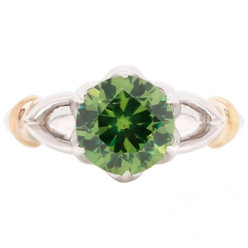 2.02 ct Demantoid White Gold Ring