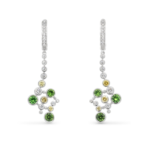 Demantoid earrings