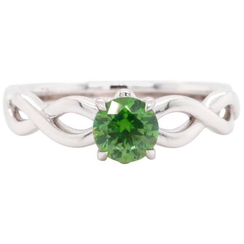 0.77 ct Russian Demantoid Gold Ring