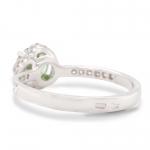 1.14 ct Demantoid White Gold Ring with Diamonds