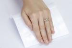 0.86 кт Кольцо из белого золота с демантоидом и бриллиантами