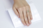 0.86 ct Demantoid White Gold Ring with Diamonds