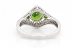 1.19 ct Demantoid White Gold Ring with Diamonds