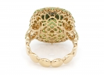 Gold Ring with Demantoids and Yellow Diamonds